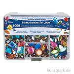 Hobby Line Schmucksteine Set - 1000 Teile, Bunt