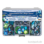 Hobby Line Schmucksteine Set - 1000 Teile, Magic Ocean
