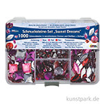 Hobby Line Schmucksteine Set - 1000 Teile, Sweet Dreams