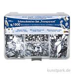 Hobby Line Schmucksteine Set - 1000 Teile, Transparent
