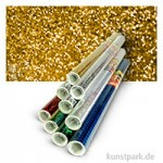 Holographische Folie 0,4x1 m Rolle, selbstklebend Rolle   Dots Gold