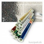 Holographische Folie 0,4x1 m Rolle, selbstklebend Rolle   Dots Silber