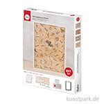 Holz-Gästebuch mit Herzen, zum Stellen, 35x26x4 cm