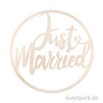Holz-Kranz - Just married, Durchmesser 30 cm, zum Hängen
