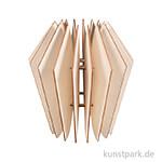 Holz Lamellenlampe - Kopenhagen, 22 x 22 x 23,5 cm