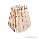 Holz Lamellenlampe - Oslo, 18,5 x 18,5 x 20 cm