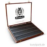 Schmincke Holz-Leerkasten dunkel - für 100 Pastell-Stifte