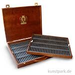 Schmincke Holz-Leerkasten dunkel - für 200 Pastell-Stifte