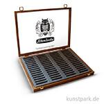 Schmincke Holz-Leerkasten dunkel - für 60 Pastell-Stifte