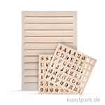 Holz Letterboard - mit 96 Buchstaben