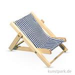 Holz-Sonnenliege Blaugestreift, 14 cm, 1 Stück