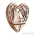 Holz-Steckteil - Brautpaar, 10 cm, Bausatz mit 5 Teilen
