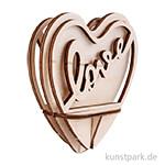 Holz-Steckteil - Love, 10 cm, Bausatz mit 5 Teilen
