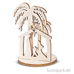 Holz-Steckteile - Krippe, 4-6,5 cm, 2 Motive