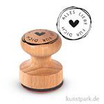 Holz-Stempel - Alles Liebe für Dich - 3 cm Durchmesser