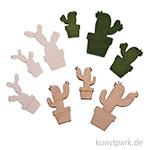 Holz-Streuteile Kakteen, 1,4 - 2,5 cm, 18 Stück sortiert