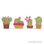 Holz-Streuteile Kaktus, 2,5-3 cm, 12 Stück sortiert
