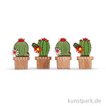 Holz Streuteile Kaktus, 3,5x6,1 cm, 4 Stück sortiert