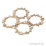 Holz Streuteile - Kranz mit Herzen, Durchmesser 5,7 cm, 4 Stück