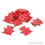 Holz-Streuteile rote Marienkäfer, 3,5x3 cm, 12 Stück
