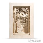 Holzbausatz 3D-Motivrahmen - Wald, 20x30x6,6 cm, 15-teilig