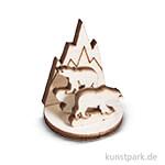 Holzfigur Eisbär zum Aufstellen, 3,2 cm