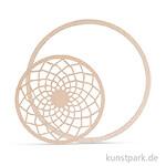 Holzscheibe Dream mit 18 cm Ring - filigran, 13 cm, 2 Stück
