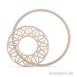 Holzscheibe Dream mit 18 cm Ring - modern, 13 cm, 2 Stück