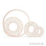 Holzscheibe Dream mit 18 cm Ring - modern, 7 - 13 cm, 4 Stück