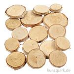 Holzscheiben-Mix, Größe 25-45 mm, 600 g