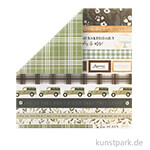 Home Again Scrappapier - Border Strips