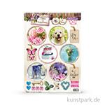 Home & Happiness Designpapier - Rund 2 - gestanzt, DIN A4, 200g