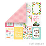I Love Spring Scrappapier - 3x4 Journaling Cards