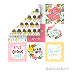 I Love Spring Scrappapier - 4x4 Journaling Cards