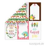 I Love Spring Scrappapier - 4x6 Journaling Cards