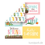 I Love Spring Scrappapier - 6x4 Journaling Cards