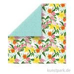 I Love Spring Scrappapier - Fresh Cut Flowers