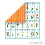 I Love Spring Scrappapier - Spring Tags