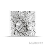 IndigoBlu Stempel - Colour me Dahlia, 90x90 cm