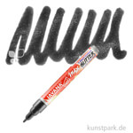 JAVANA Texi Mäx GLITTER - Stoffmalstift mit Glitzer-Effekt Stift | Schwarz