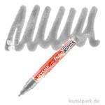 JAVANA Texi Mäx GLITTER - Stoffmalstift mit Glitzer-Effekt Stift | Silber