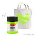 JAVANA Textil FLASH - fluoreszierende Stoffmalfarbe 50 ml | Leuchtgrün