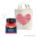 JAVANA Textil OPAK - Stoffmalfarbe für dunkle Stoffe 20 ml | Cherry