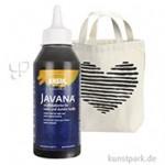 JAVANA Textil OPAK - Stoffmalfarbe für dunkle Stoffe 250 ml | Schwarz