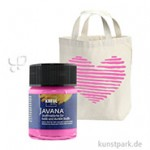 JAVANA Textil OPAK - Stoffmalfarbe für dunkle Stoffe 50 ml | Magenta