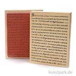 Judi-Kins Stamps - mittelalterliche Buchseite - 13x17 cm
