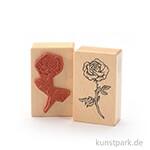 Judi-Kins Stamps - Rose, offen - 5x8 cm
