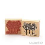 Judi-Kins Stamps - Winterbäume - 7x8 cm