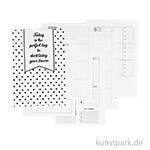 Kalenderseiten für Planer - 5-Wochen-Plan, Größe 142x210 mm, 7 Seiten