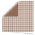 Kariert - Scrapbookingpapier, 190 g 30,5 x 30,5 cm | Schokolade